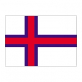 Faroe Islands Flags     High-Quality 1-ply Car Window Flag With Clip Attachment