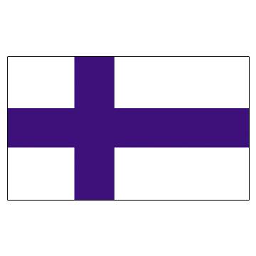 Finland Flags      High-Quality 1-ply Car Window Flag With Clip Attachment