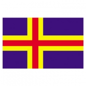 Finland(Aland Islands) Flags      High-Quality 1-ply Car Window Flag With Clip Attachment
