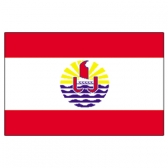 French Polynesia Flags      High-Quality 1-ply Car Window Flag With Clip Attachment