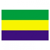 Gabon Flags      High-Quality 1-ply Car Window Flag With Clip Attachment