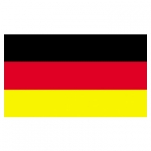 Germany Flags      High-Quality 1-ply Car Window Flag With Clip Attachment