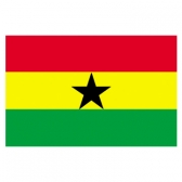 Ghana Flags      High-Quality 1-ply Car Window Flag With Clip Attachment