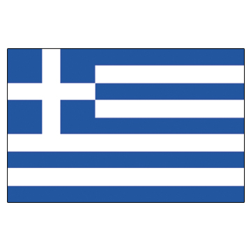 Greece Flags      High-Quality 1-ply Car Window Flag With Clip Attachment