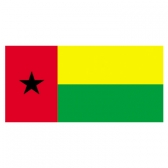 Guinea-Bissau Flags      High-Quality 1-ply Car Window Flag With Clip Attachment