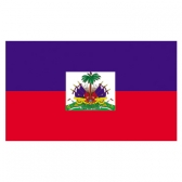 Haiti Flags      High-Quality 1-ply Car Window Flag With Clip Attachment
