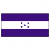 Honduras Flags      High-Quality 1-ply Car Window Flag With Clip Attachment