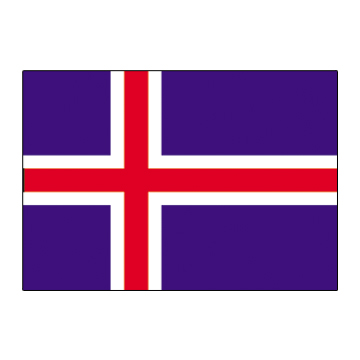 Iceland Flags      High-Quality 1-ply Car Window Flag With Clip Attachment