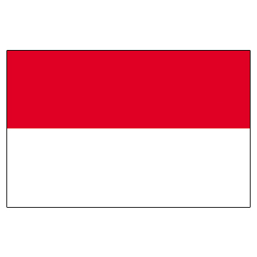 Indonesia Flags      High-Quality 1-ply Car Window Flag With Clip Attachment