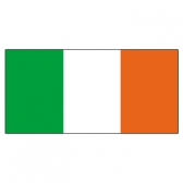Ireland Flags      High-Quality 1-ply Car Window Flag With Clip Attachment