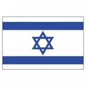 Isreal Flags      High-Quality 1-ply Car Window Flag With Clip Attachment