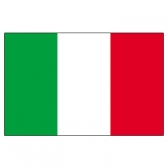 Italy Flags      High-Quality 1-ply Car Window Flag With Clip Attachment