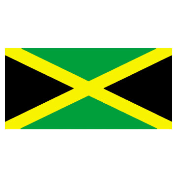 Jamaica Flags      High-Quality 1-ply Car Window Flag With Clip Attachment