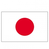 Japan Flags      High-Quality 1-ply Car Window Flag With Clip Attachment