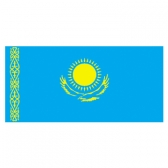 Kazakhstan Flags      High-Quality 1-ply Car Window Flag With Clip Attachment