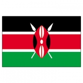 Kenya Flags      High-Quality 1-ply Car Window Flag With Clip Attachment
