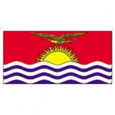 Kiribati Flags      High-Quality 1-ply Car Window Flag With Clip Attachment