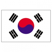 Korea Flags      High-Quality 1-ply Car Window Flag With Clip Attachment