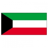 Kuwait Flags      High-Quality 1-ply Car Window Flag With Clip Attachment