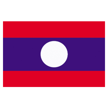 Laos Flags      High-Quality 1-ply Car Window Flag With Clip Attachment