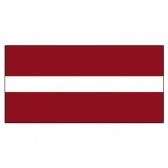 Latvia Flags      High-Quality 1-ply Car Window Flag With Clip Attachment