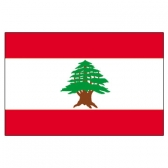 Lebanon Flags      High-Quality 1-ply Car Window Flag With Clip Attachment