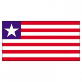 Liberia Flags      High-Quality 1-ply Car Window Flag With Clip Attachment