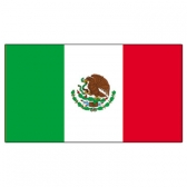 Mexico Flags      High-Quality 1-ply Car Window Flag With Clip Attachment