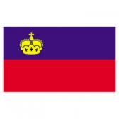 Liechtenstein Flags      High-Quality 1-ply Car Window Flag With Clip Attachment