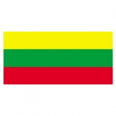 Lithuania Flags      High-Quality 1-ply Car Window Flag With Clip Attachment