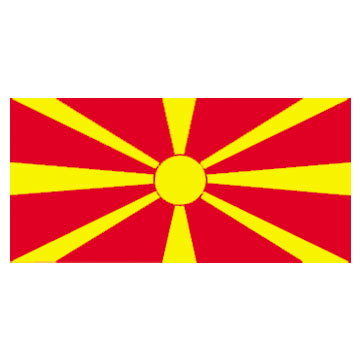 Macedonia Flags      High-Quality 1-ply Car Window Flag With Clip Attachment
