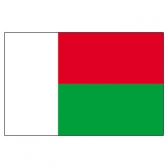 Madagascar Flags      High-Quality 1-ply Car Window Flag With Clip Attachment