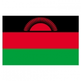 Malawi Flags      High-Quality 1-ply Car Window Flag With Clip Attachment