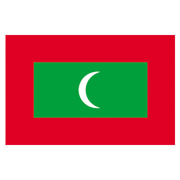 Maldives Flags      High-Quality 1-ply Car Window Flag With Clip Attachment
