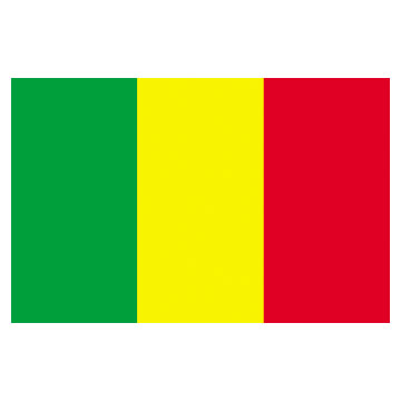 Mali Flags      High-Quality 1-ply Car Window Flag With Clip Attachment