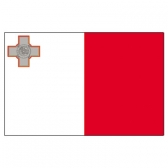 Malta Flags      High-Quality 1-ply Car Window Flag With Clip Attachment