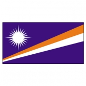 Marshall Islands Flags      High-Quality 1-ply Car Window Flag With Clip Attachment