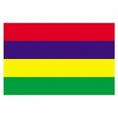 Mauritius Flags      High-Quality 1-ply Car Window Flag With Clip Attachment