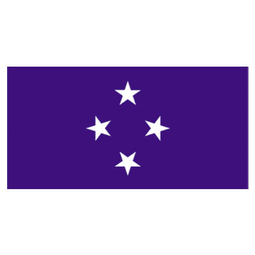 Micronesia Flags      High-Quality 1-ply Car Window Flag With Clip Attachment