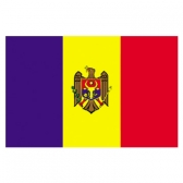 Moldova Flags      High-Quality 1-ply Car Window Flag With Clip Attachment