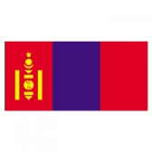Mongolia Flags      High-Quality 1-ply Car Window Flag With Clip Attachment
