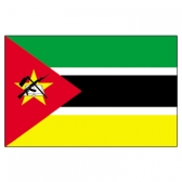 Mozambique Flags      High-Quality 1-ply Car Window Flag With Clip Attachment