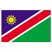 Namibia Flags      High-Quality 1-ply Car Window Flag With Clip Attachment