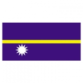 Nauru Flags      High-Quality 1-ply Car Window Flag With Clip Attachment