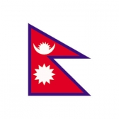 Nepal Flags      High-Quality 1-ply Car Window Flag With Clip Attachment