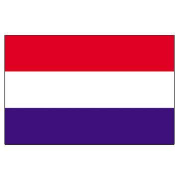 Netherlands Flags      High-Quality 1-ply Car Window Flag With Clip Attachment
