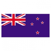 New Zealand Flags      High-Quality 1-ply Car Window Flag With Clip Attachment
