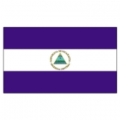 Nicaragua Flags      High-Quality 1-ply Car Window Flag With Clip Attachment