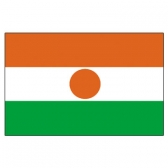Niger Flags      High-Quality 1-ply Car Window Flag With Clip Attachment