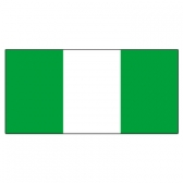 Nigeria Flags      High-Quality 1-ply Car Window Flag With Clip Attachment